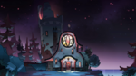 Owl House at night