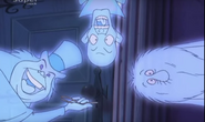 The Hitchhiking Ghosts locking the door
