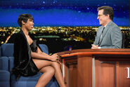 Jennifer Hudson visits Stephen Colbert