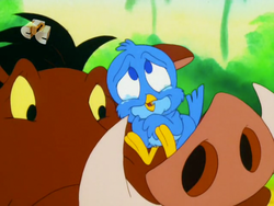 Little Jimmy with Pumbaa