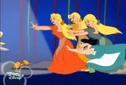 The Bimbettes and Tilda trample Donald