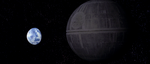 Death Star approaching Alderaan
