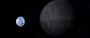 Death Star approaching Alderaan