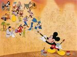 Mickey Paints Mural