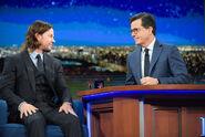 Mark Wahlberg visits Stephen Colbert