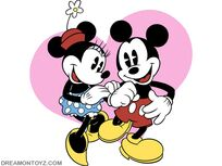 Mickey-mouse-minnie-mouse Wallpaper-
