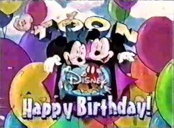 Mickey and Minnie's birthday Toon Disney logo