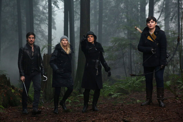 File:Once Upon a Time - 5x17 - Her Handsome Hero - Publicity Images - Killian, Emma, Regina and Mary Margaret.jpg