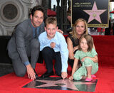 Paul Rudd with family at Walk of Fame