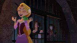 Rapunzel lacht böse