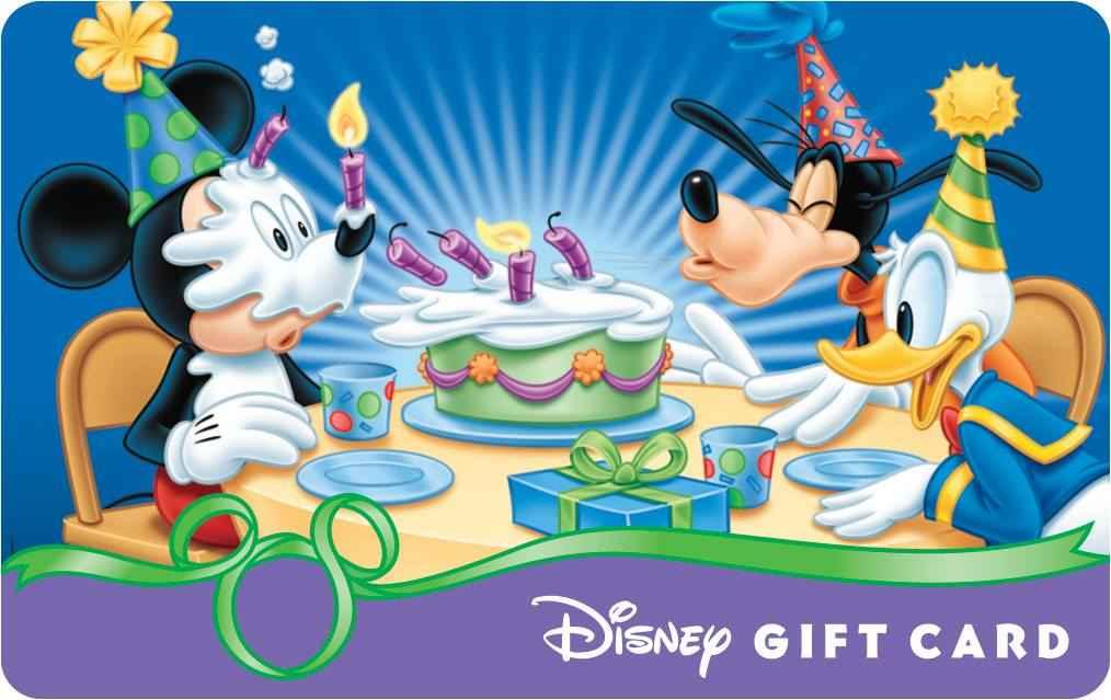 Image Happy Birthday Disney Gift Card Mickey Goofy and Donald