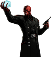 Red Skull Portrait Art