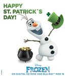 Frozen St Patrick's Day Poster