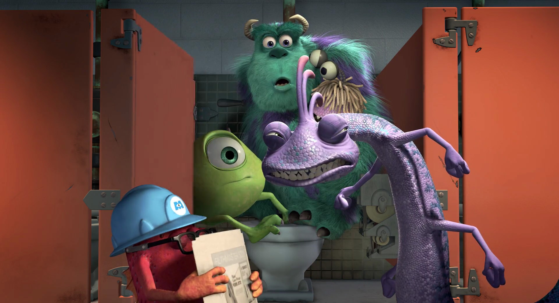 Image monsters inc disneyscreencapscom 4717jpg for Monsters inc bathroom scene