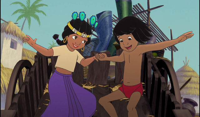 File:Mowgli and Shanti are haveing lots of fun together.jpg