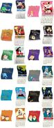 Year of 2015 Disney Villains calender pins