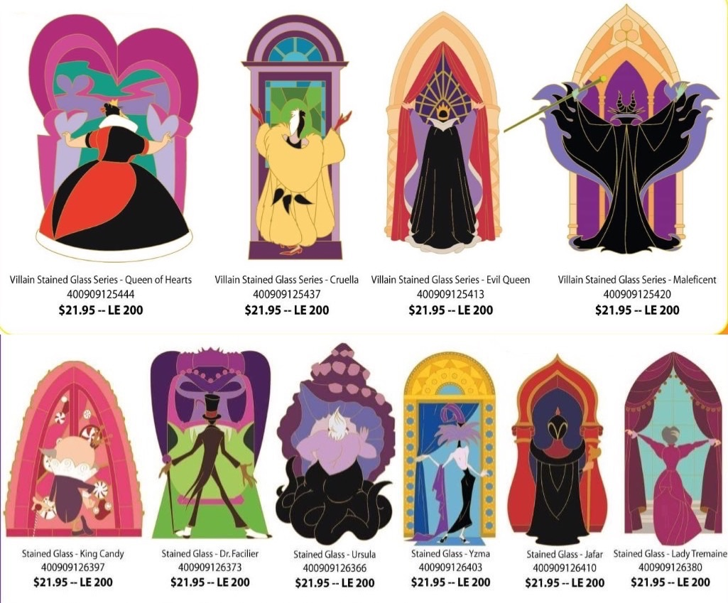 image disney villains stain glass pin set jpg disney wiki fandom powered by wikia disney characters clipart images vector disney character clipart images