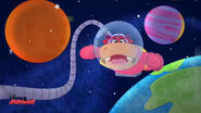 Animated hallie in space