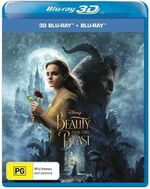 Beauty and the Beast Live Action 2017 AUS Blu Ray 3D and Blu Ray Combo