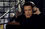 John Travolta behind the scenes Bolt