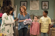 Raven's Home - 1x02 - Big Troube in Little Apartment - Raven, Chelsea, Levi and Booker