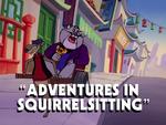 Adventures in Squirrelsitting title card