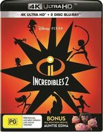 Incredibles 2 2018 AUS 4K Ultra HD + Blu Ray