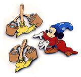 Mickey Sorcerer Brooms Pin