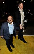 Danny Woodburn and wife Amy Buchwald Watchmen premiere