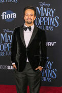Lin-Manuel Miranda Mary Poppins Returns premiere
