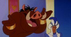 Genie as Pumbaa