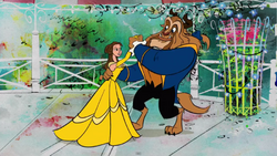 The adorable couple beauty and the beast