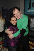 Mae Whitman with Richard Kind