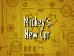 Mickey's New Car