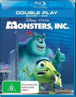 Monsters Inc 2013 AUS Blu Ray and DVD