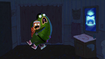 Pickle and Peanut scared of Gory Agnes