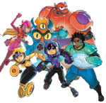 Big Hero 6 team Illustrated Render II