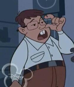 Cousin Larry adjusting Glasses