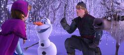Das erste Treffen mit Olaf