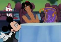 Aladdín ofrece alfombra Mickey