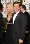 Dennis Quaid & wife Kimberly 68th Golden Globes