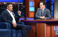Josh Duhamel visits Stephen Colbert
