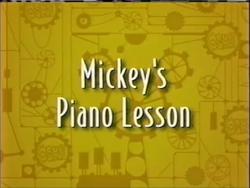 Mickey's Piano Lesson
