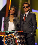 Zoe Saldana and Robert Downey Jr. KCA 2010