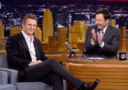 Liam Neeson visits Jimmy Fallon
