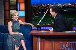 Scarlett Johansson visits Stepehn Colbert