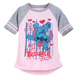 Stitch 'So Cute but a Lot of Trouble' Raglan T-Shirt for Girls