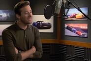 Armie Hammer behind the scenes Cars3