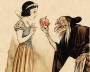 Blancanieves con la bruja