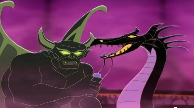 File:Dragon Maleficent with Chernabog in Mickey's House of Villains.png
